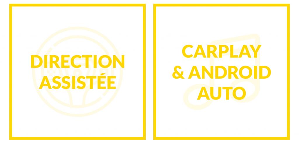 Nouveautés 2020: direction assistée et carplay & android auto pour voiture sans permis