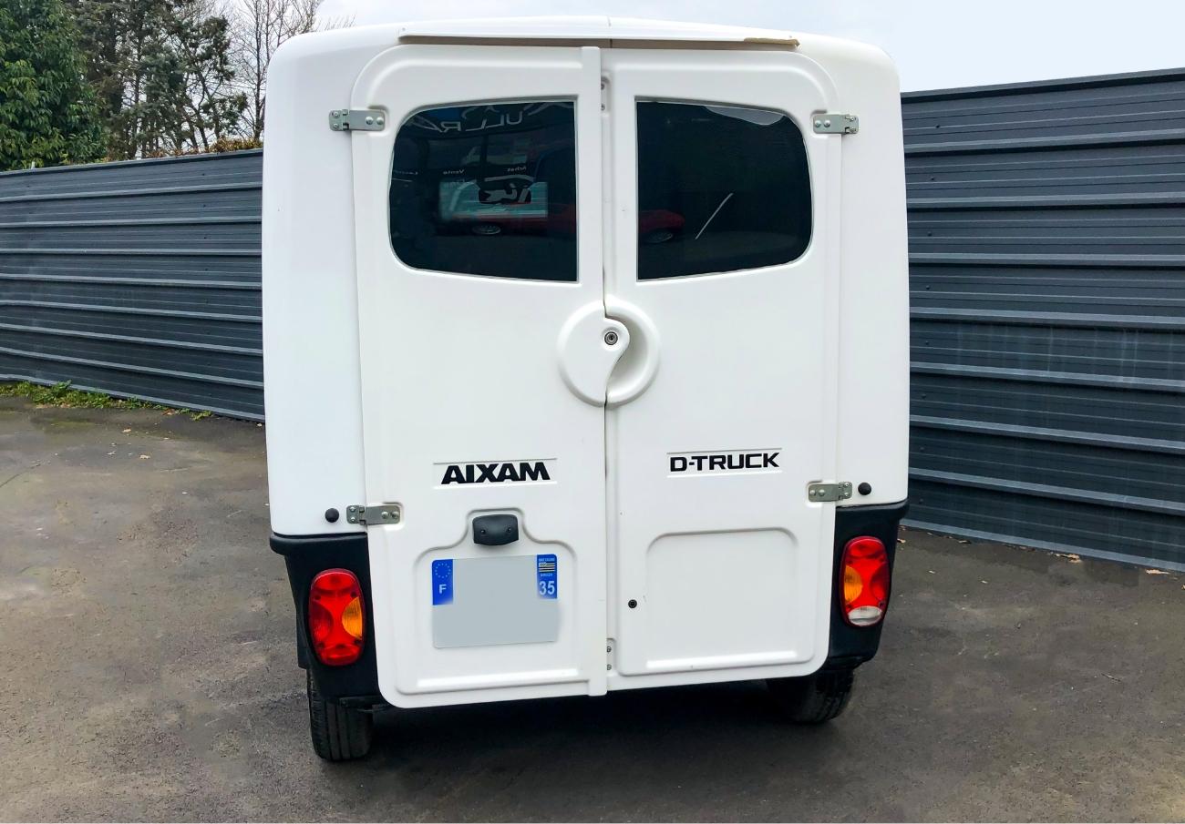 Arrière Aixam MEGA D-Truck Blanc