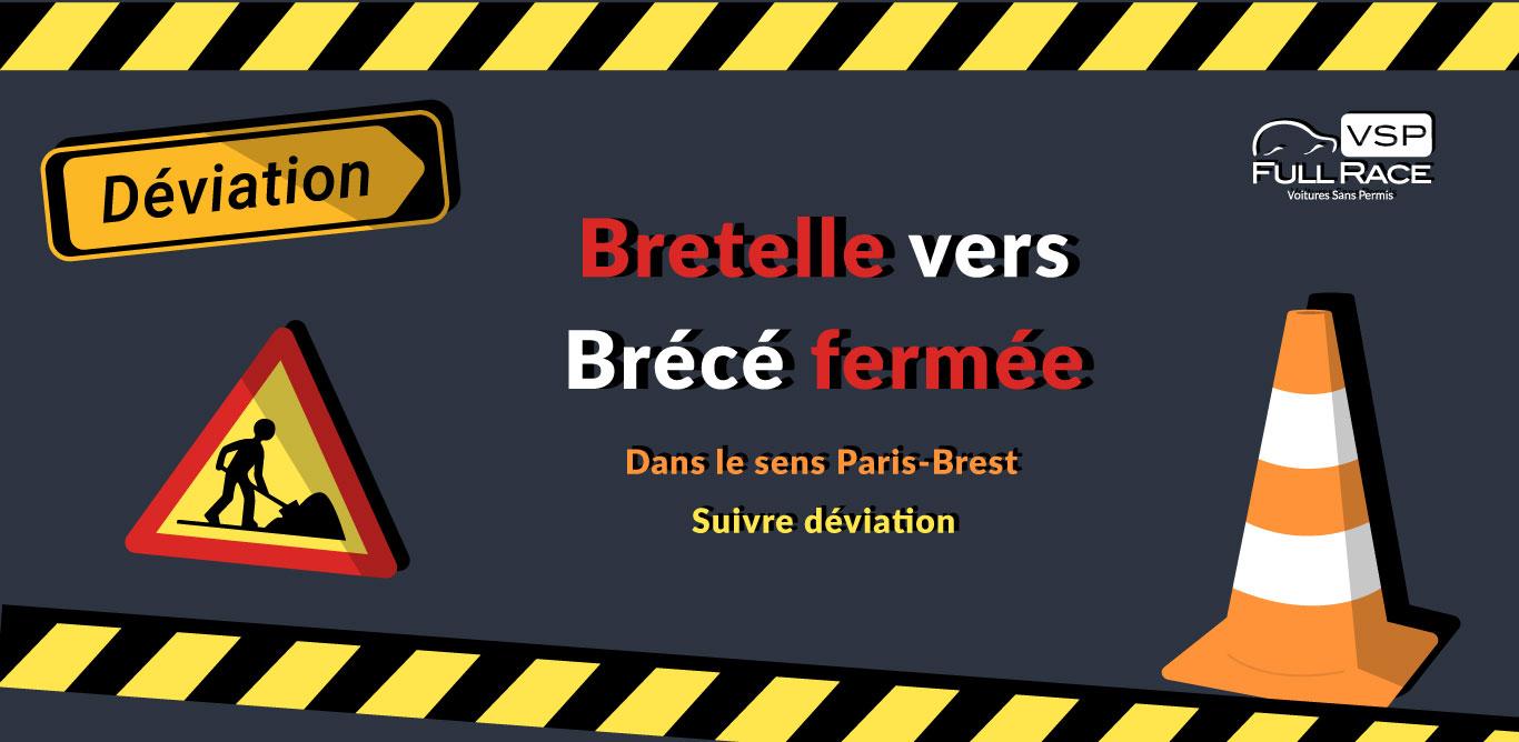 Bretelle fermée dans le sens Paris-Brest pour cause de travaux
